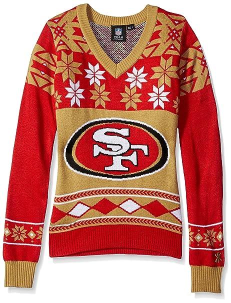 8cefa77d NFL Women's V-Neck Sweater, San Francisco 49ers, Large