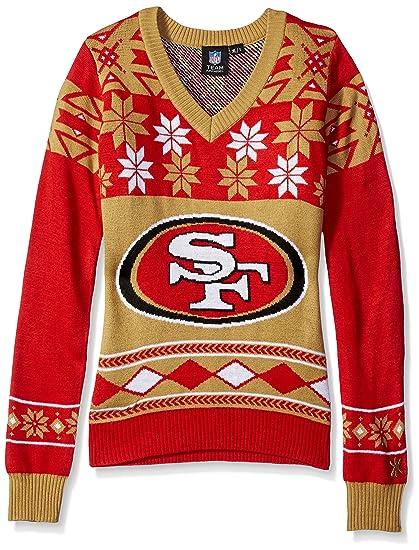 95791b9d NFL Women's V-Neck Sweater, San Francisco 49ers, Medium