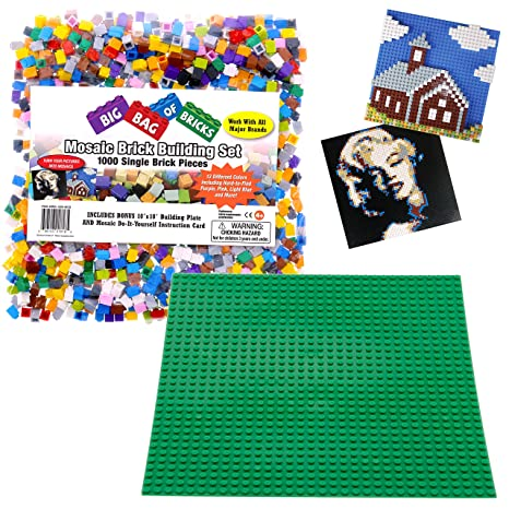 Amazon.com: Brick Building Mosaic Set by SCS- 1000 Small Single ...