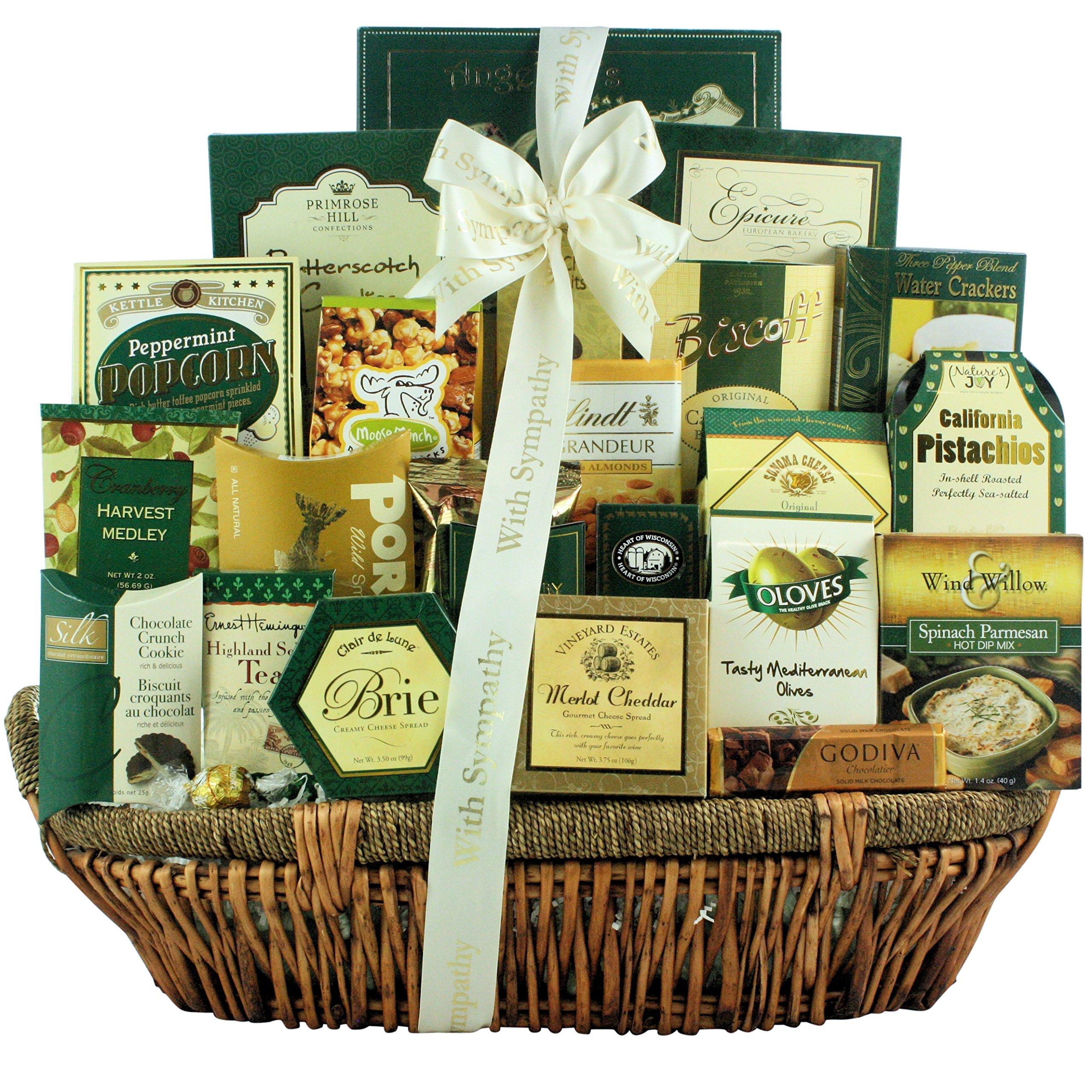 Great Arrivals Premium Sympathy Gift Basket, Heartfelt Condolences