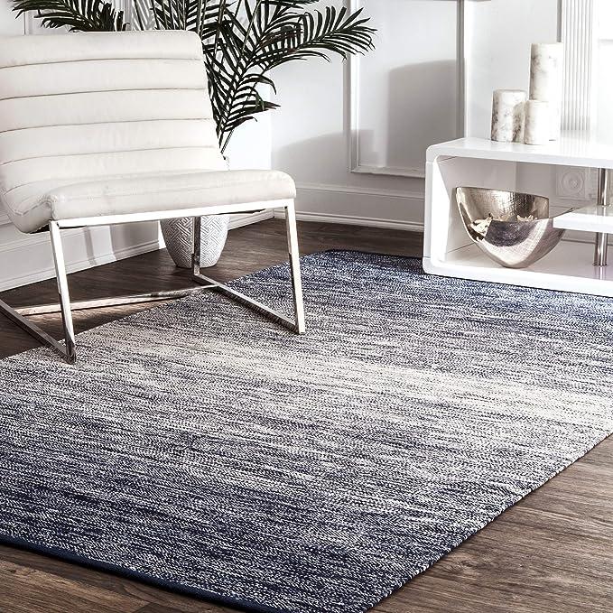 Nuloom Cayla Ombre Area Rug 7 6 X 9 6 Blue Furniture Decor Amazon Com
