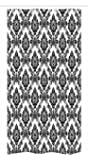 Damask Stall Shower Curtain by Ambesonne, Antique Classic Damask Flowers Pattern Traditional Artwork Decorative Design, Fabric Bathroom Decor Set with Hooks, 36 W x 72 L Inches, Black and White