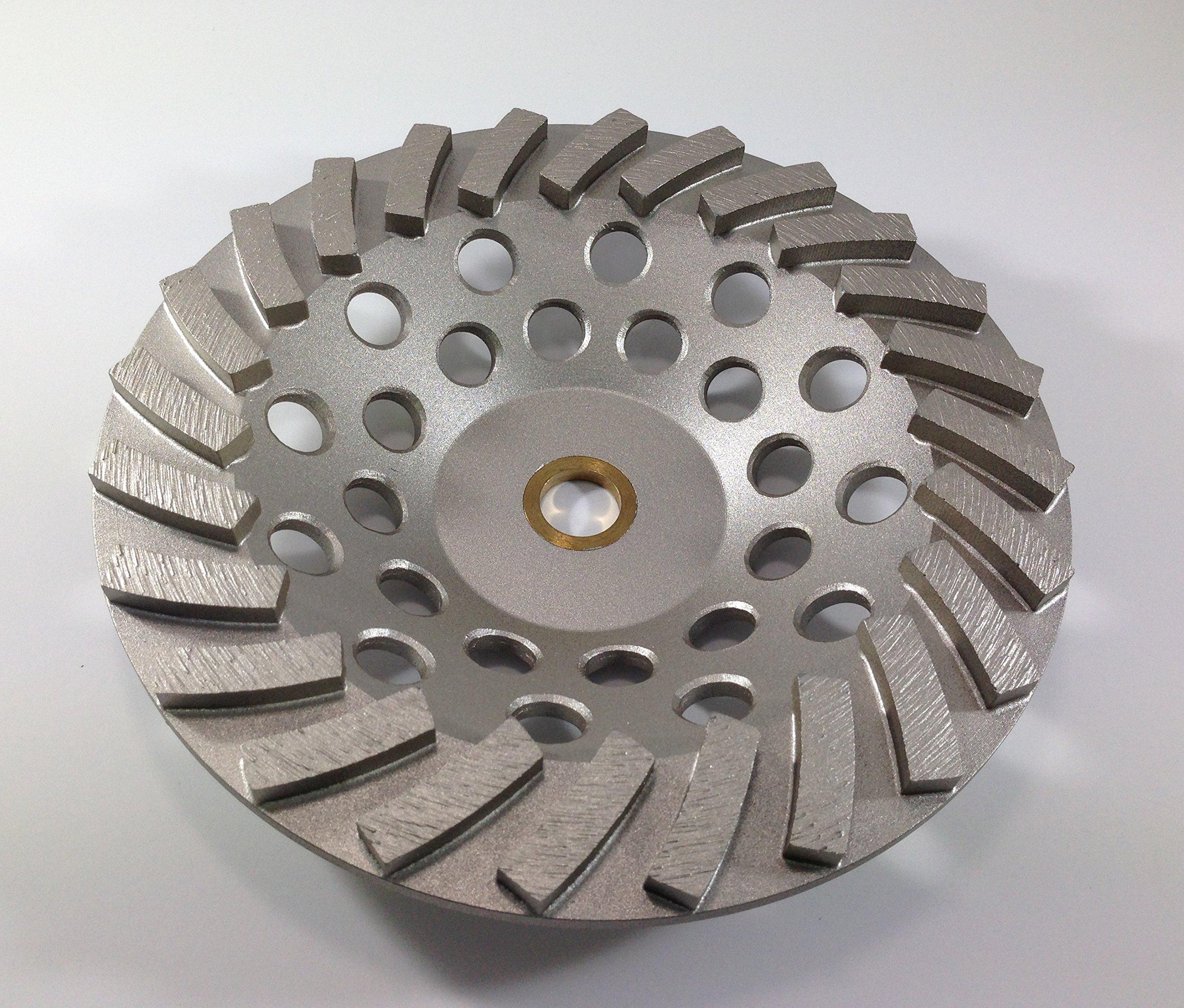 7'' Concrete Grinding Cup Wheel 24 Segments - Non Threaded - 7/8-5/8