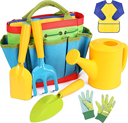 Amazon Com Innocheer Kids Gardening Tools 7 Piece Garden Tool