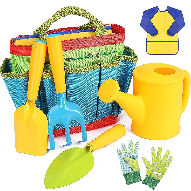 INNOCHEER Kids Gardening Tools, 7 Piece Garden tool set for Kids