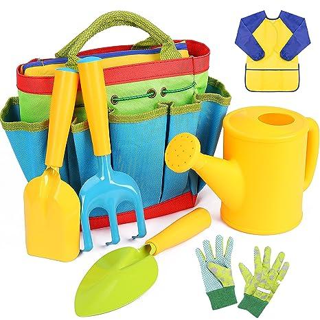 Amazoncom INNOCHEER Kids Gardening Tools 7 Piece Garden tool set
