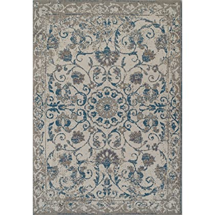 88528ce5d15 ... Traditional Vintage Area Rug Distressed Rug Blue 2x3 Door Mats Scatter  Rugs