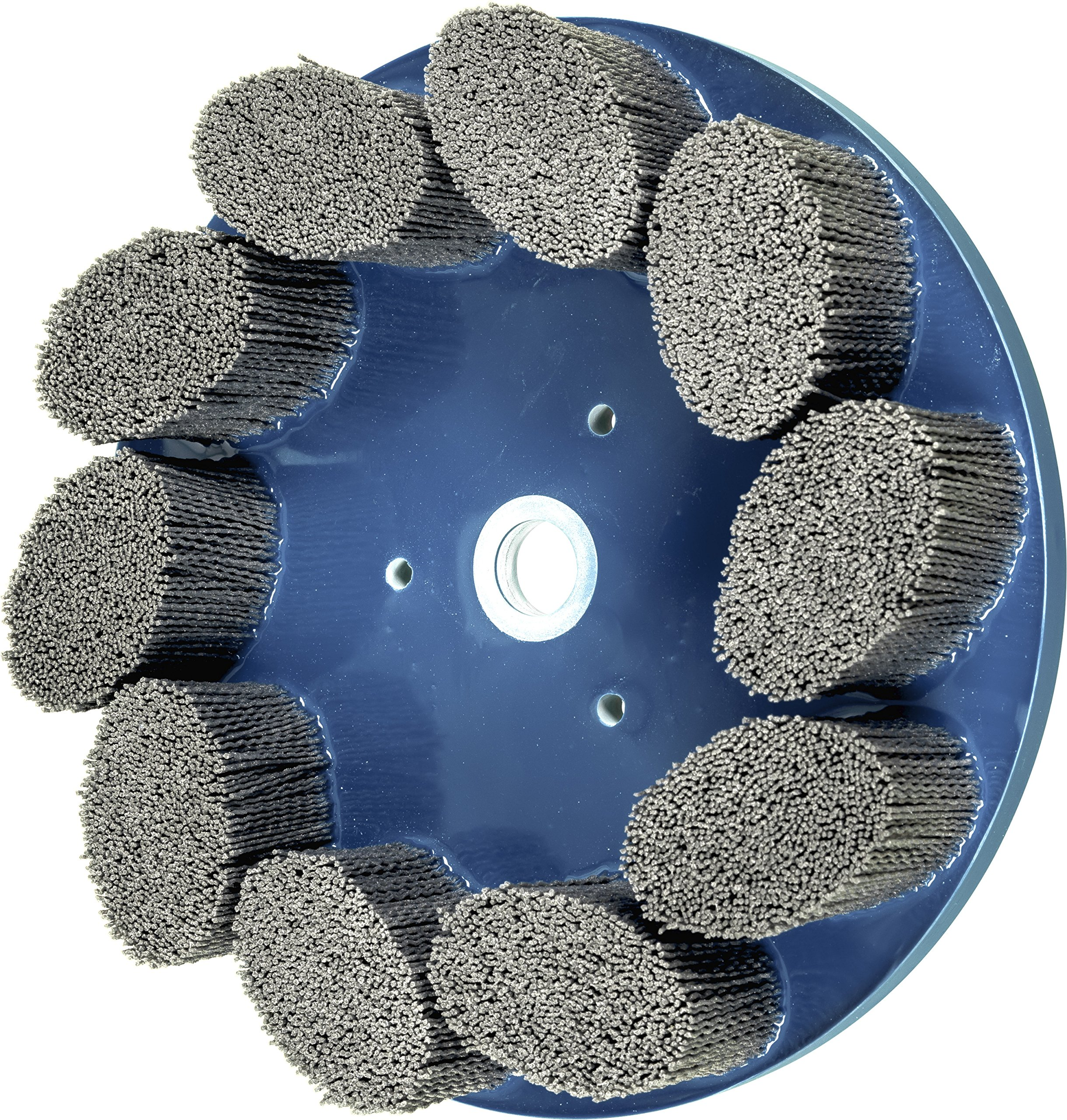 PFERD 83957 M-Brad Standard Density Composite Disc Brush, Silicon Carbide, 10'' Diameter, .040 Round Filament, 1340 Rpm, 80 Grit, Silicon Carbide, Coating, Cut,, Cutting Angle, Flute,