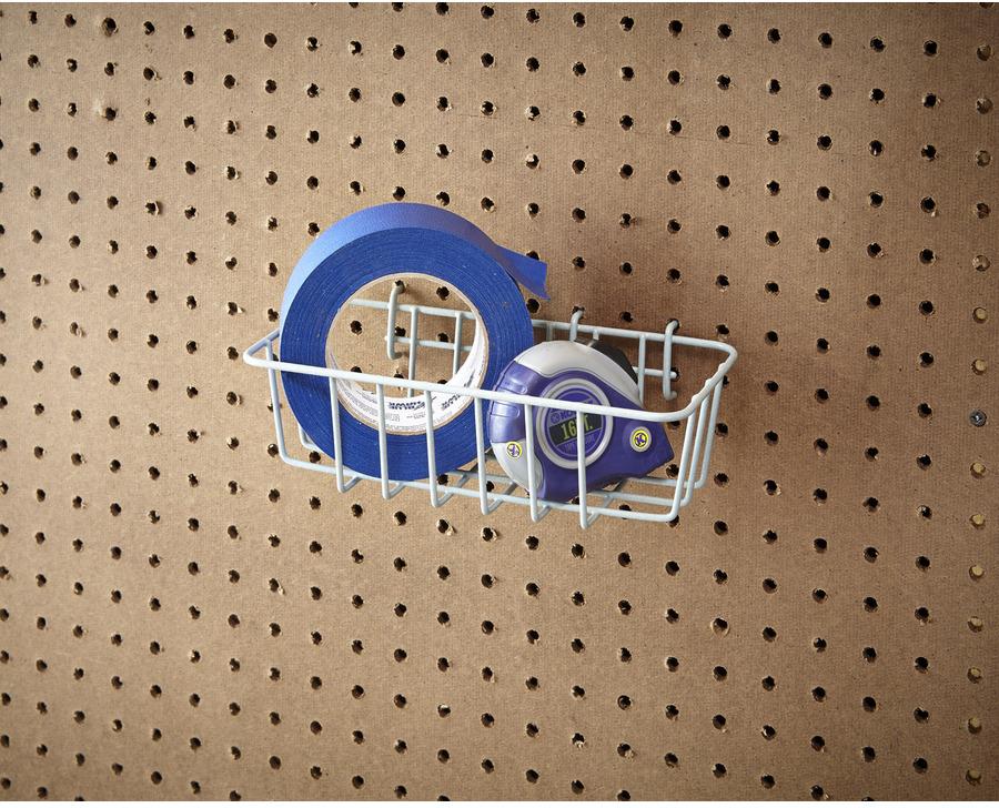 Shop Blue Hawk 9.13-in W x 3.46-in H Gray Metal Garage Storage Basket at Lowes.com