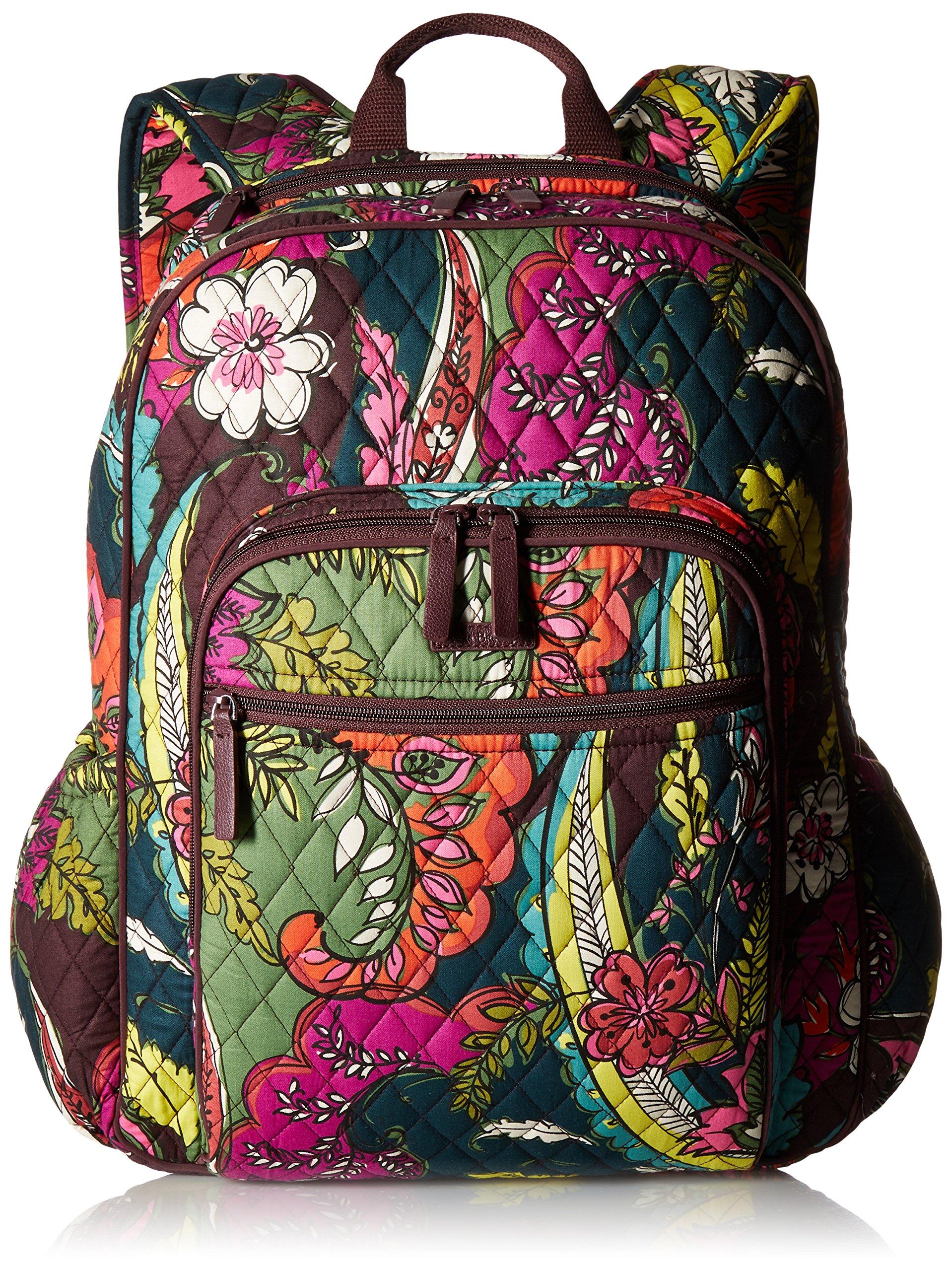 Women's Campus Tech Backpack, Signature Cotton, Autumn Leaves