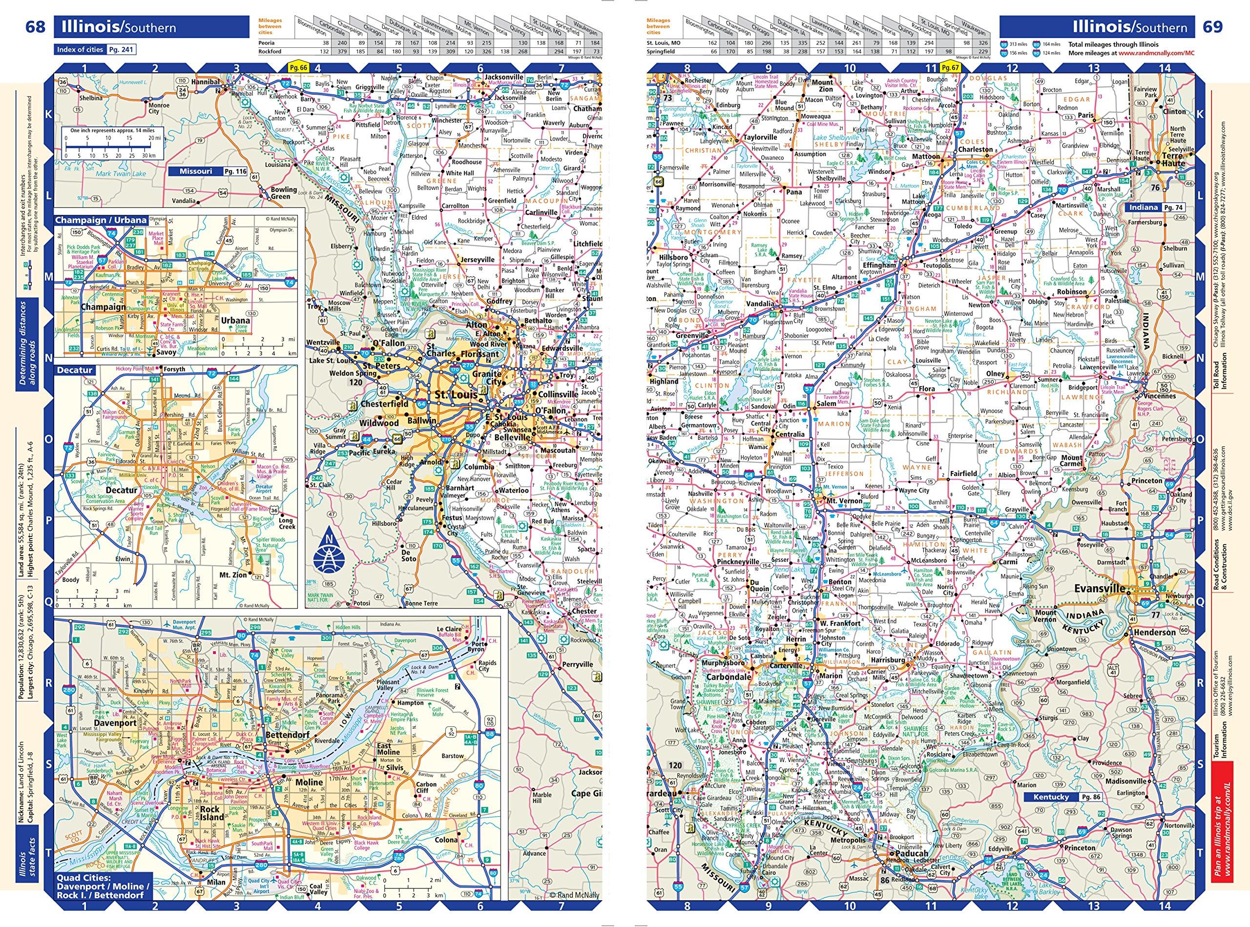 Rand McNally  Large Scale Road Atlas Rand Mcnally Large Scale - Road atlas map of usa