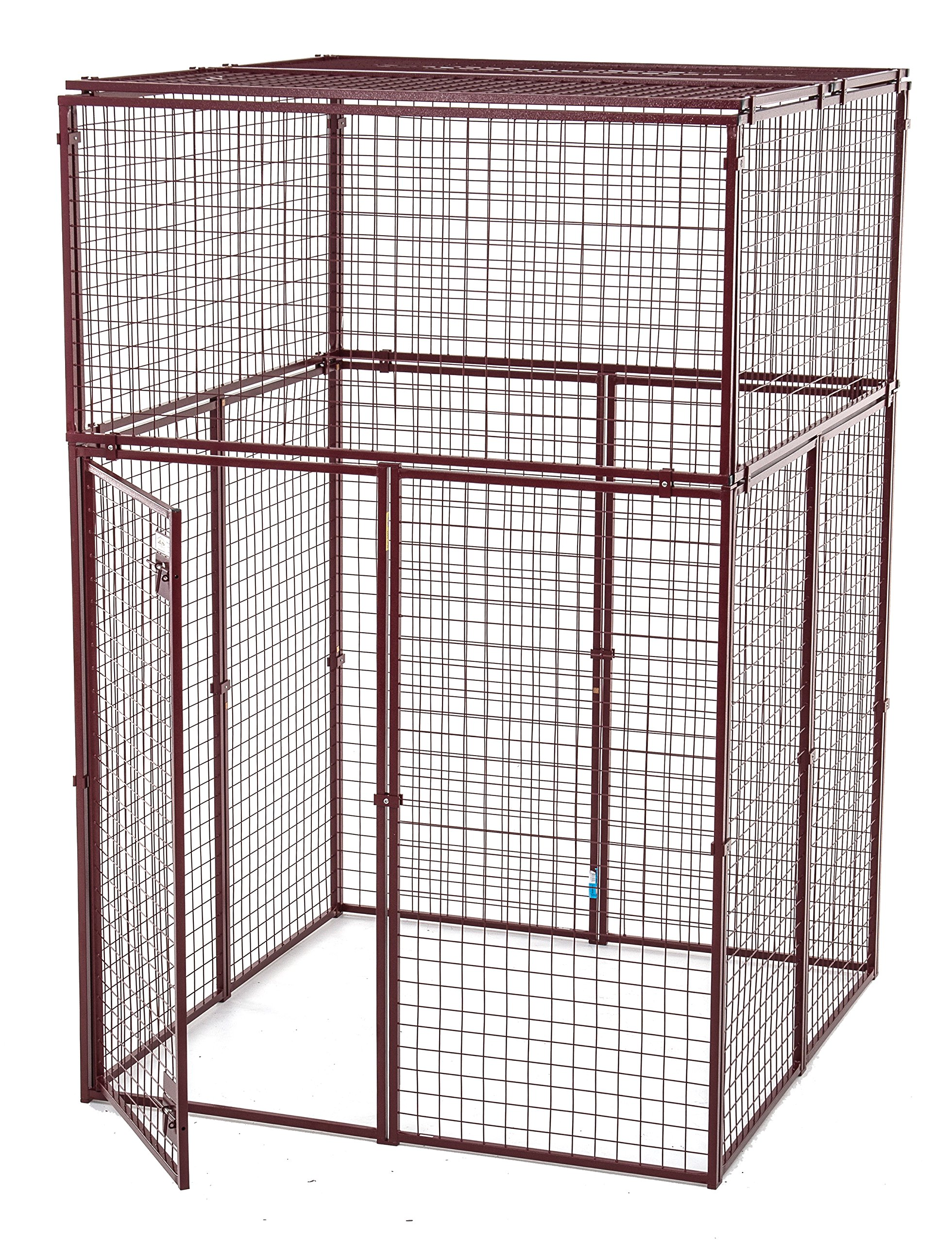 Animal House Heavy Duty Outdoor Protective Kennel (7.5'Hx5'L x5'W) 154.5 lbs
