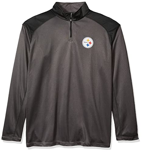6a5829e3 Amazon.com : NFL Pittsburgh Steelers Men 1/4 ZIP POLY JERSEY, STORM ...