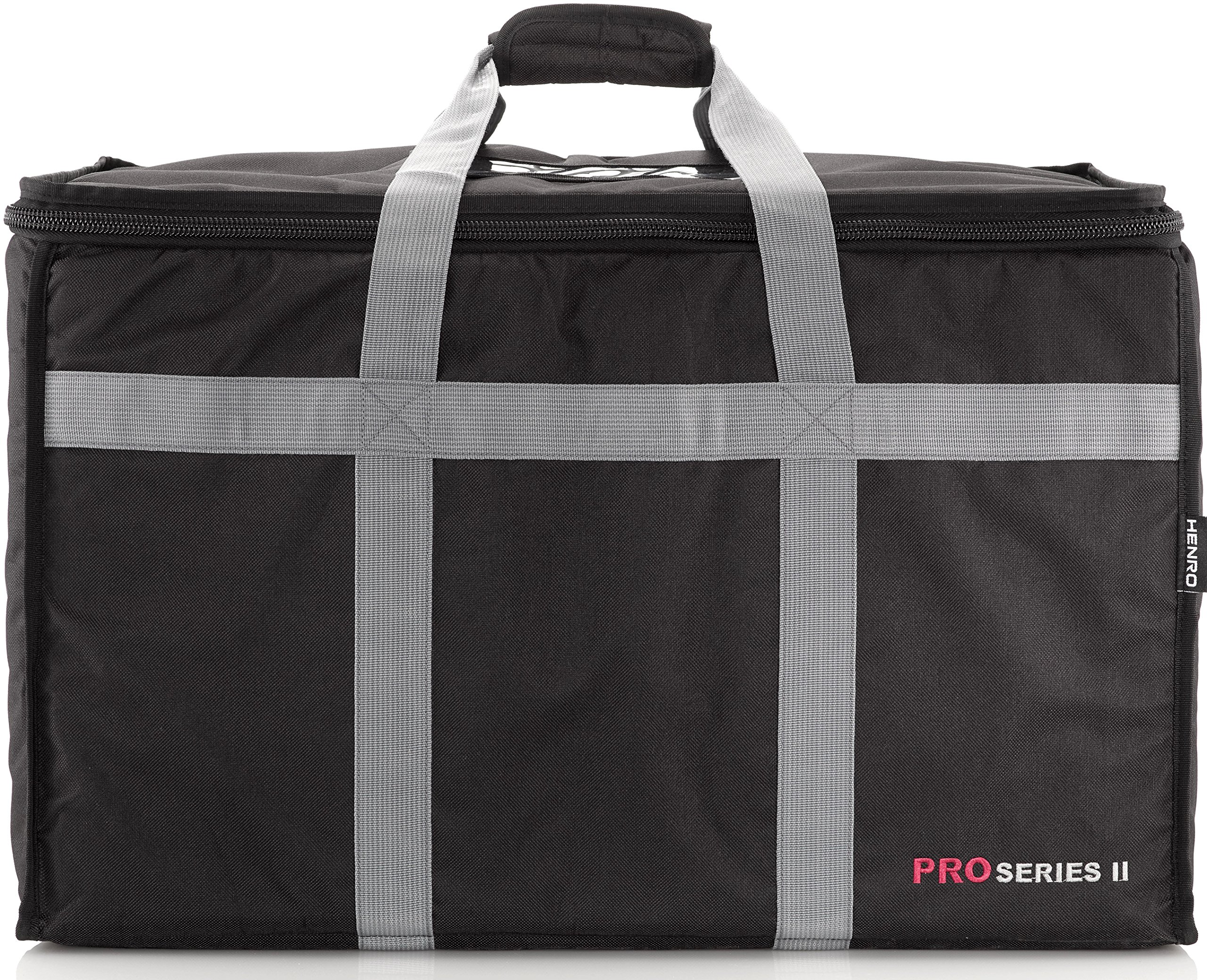 Insulated Commercial Food Delivery Bag - Professional Hot/Cold Thermal Carrier - Large (23'' x 14'' x 15''), Lightweight & Portable for Catering, Grocery Shopping or Parties & Holidays by Henro