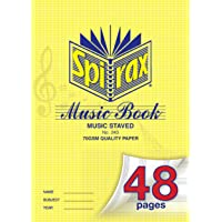 SPIRAX Ruled Spirax 243 A4 Music Book, 48 Pages, (55243)