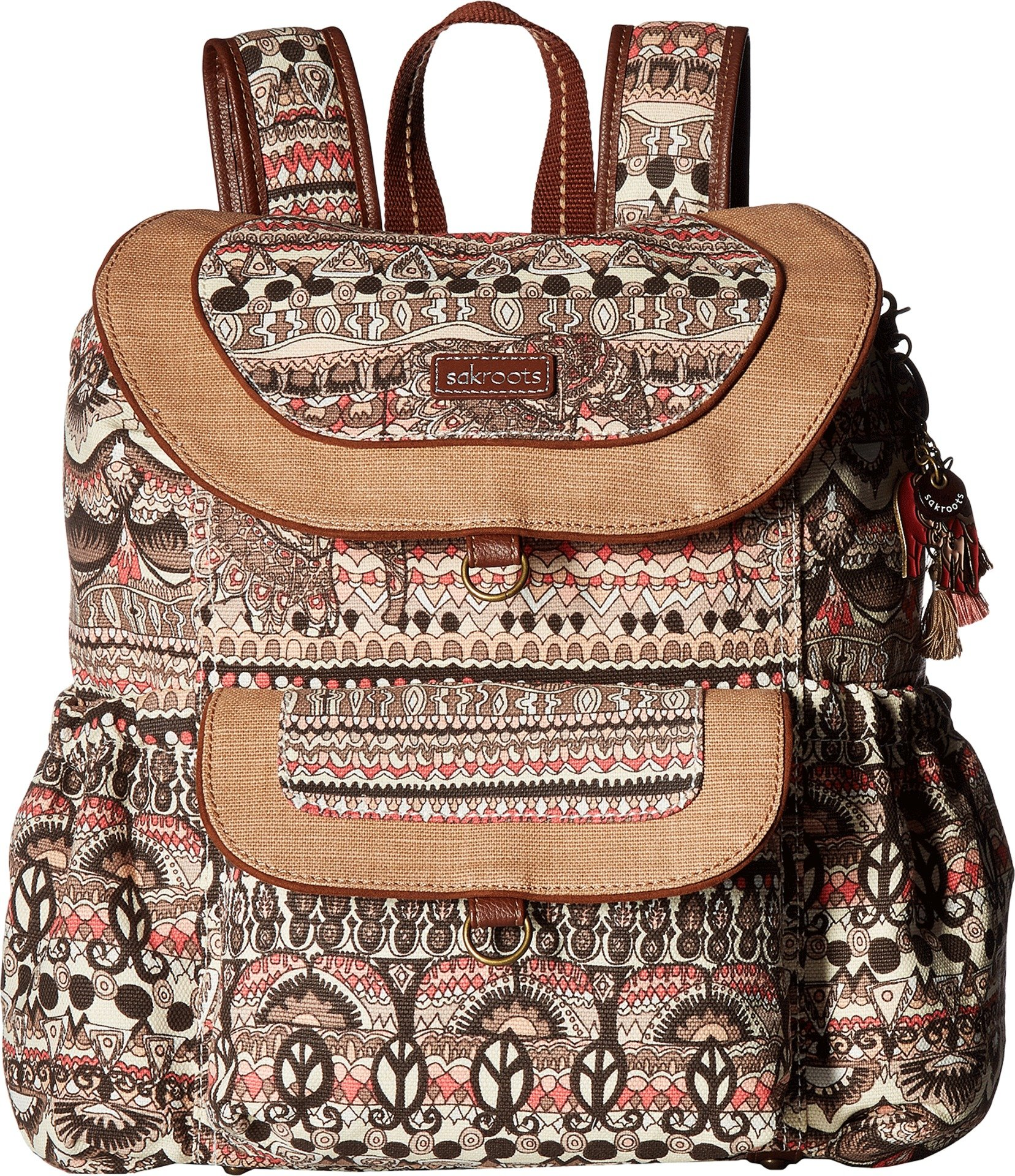 Sakroots Flap Backpack, Sand One World, One Size