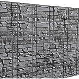 [neu.haus] Film pour clôture protection anti-regards (gris aspect de pierres)(35m)