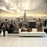 Photo Wallpaper Mural Shining Manhatten 366x254 cm Skyline New York deco.deals, pasting brush:ohne Bürste / no without