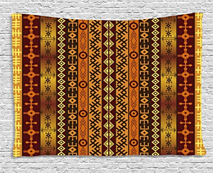 Amazon.com: Ambesonne Tribal Tapestry, African Motif with ...