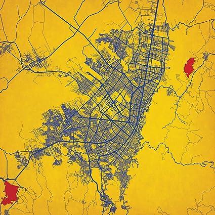 Amazon.com: Bogotá, Colombia Map Art, Unframed 12\
