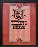 XL 15X12 - Ticket Shadow Box - Memento Frame - Large Slot on Top of Frame - Memory Box Storage for Any Size Tickets…