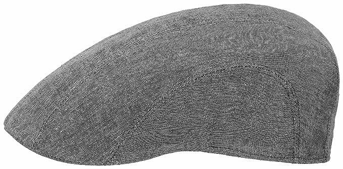 12f2cd3cc69 Stetson Men s Flat Cap Madison Linen - grey  Amazon.co.uk  Clothing