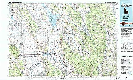 Amazon Com Yellowmaps Soda Springs Id Topo Map 1 100000 Scale 30