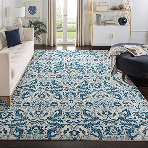 Safavieh Evoke Collection Ivory and Blue Area Rug