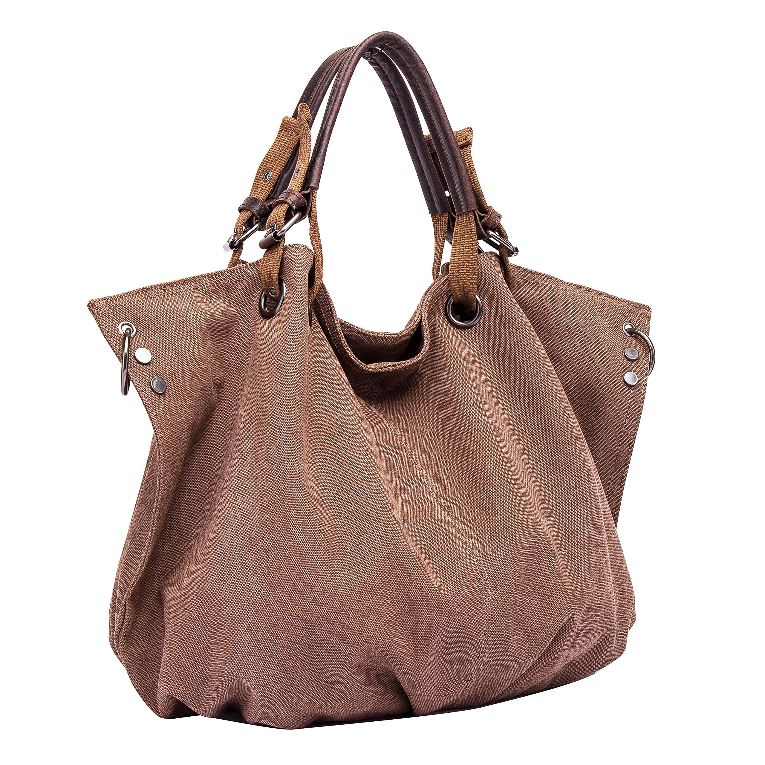 fdbab58a57c3 Women Top Handle Satchel Handbags Shoulder Bag Messenger Tote Washed  Leather Purses Bag … (Coffee)