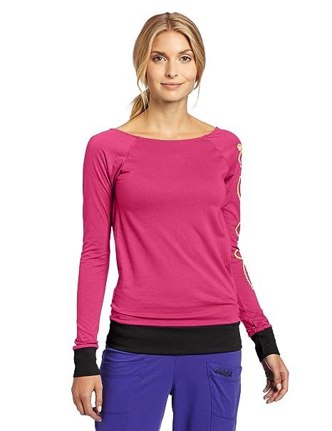 ca5ac6282a Zumba Fitness LLC Women s Bliss Long Sleeve V-Top (Mulberry
