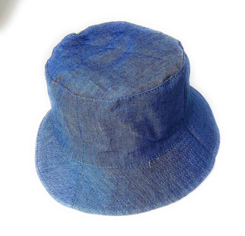 KGM Accessories Chapeau de Soleil en Jean Motif Cachemire Bleu