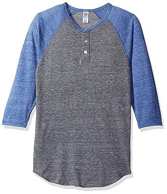 4e7cdf78 Alternative Men's Raglan 3/4 Sleeve Henley Shirt at Amazon Men's Clothing  store:
