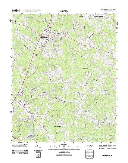 Franklinton Nc Map.Amazon Com Topographic Map Poster Franklinton Nc Tnm Geopdf 7 5