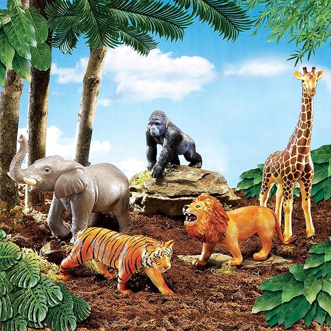 Amazon Learning Resources Jumbo Jungle Animals Toys Games