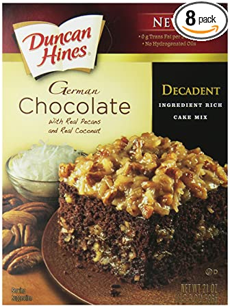 Duncan Hines Decadent German Chocolate Cake Mix Cupcakes
