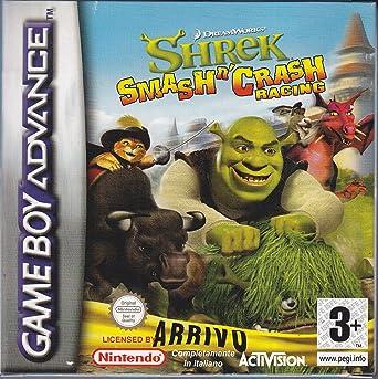 Activision Shrek Smash N Crash Racing Gba Juego Gba Game Boy