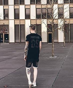 7a04c064ec7b04 Allstar Oversize T-Shirt Herren Longshirt Mit 09 Print Longline Tee Langes  Stylisches Shirt - S M L XL