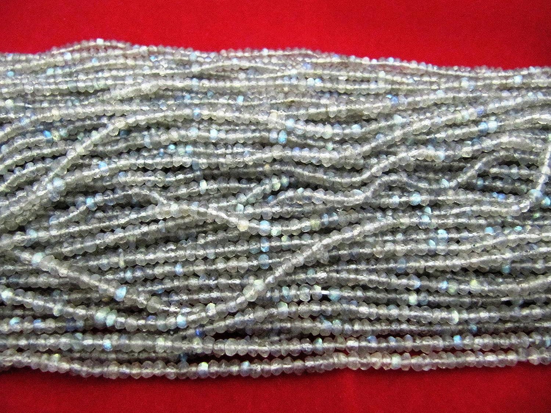 Venta AAA calidad Natural Labradorita Rondelle facetado perlas 3A 4mm, Natural labradoritre perlas, piedras preciosas perlas se vende por guirnalda
