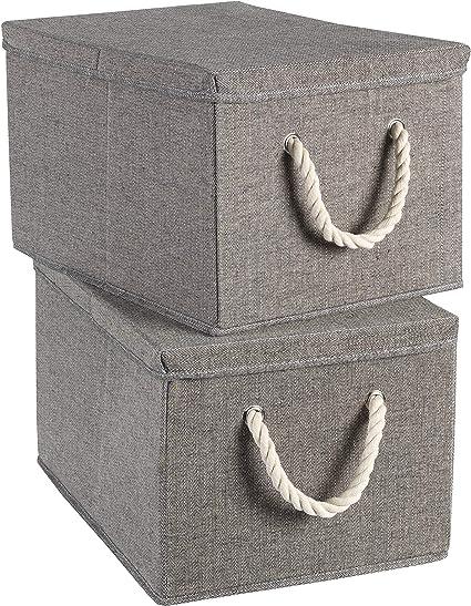 SmallYin Aufbewahrungsbox Mit Deckel Gro/ß Aufbewahrungstasche Faltbare Unterbett R Kleideraufbewahrung W/äSchesammle,Unterbett Aufbewahrungsbeutel F/üR Bettdecken,Steppdecken,Kleidung,Decken