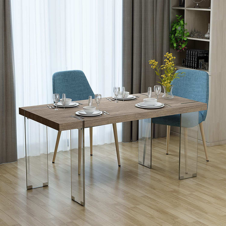 Christopher Knight Home Migdalia Dining Table, Dark Sonoma Oak