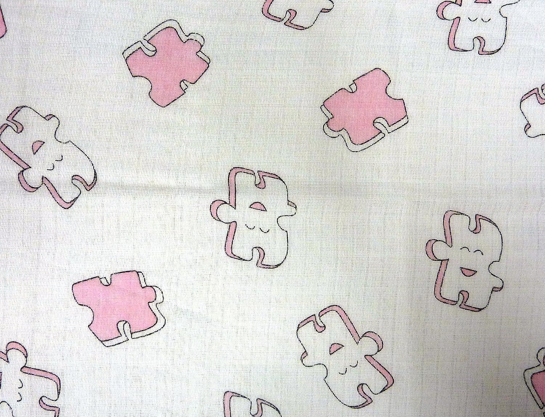 Gasas Impreso 5/Pack multicolor para V/ómitos pa/ños pa/ñales de tela 70/x 80/algod/ón nuevo Puzzle de Color Rosa