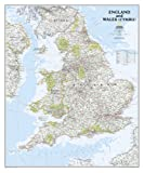 England and Wales Classic Wall Maps Countries & Regions (National Geographic Reference Map)