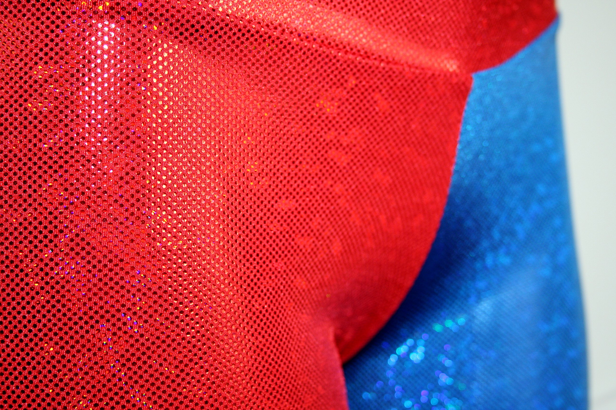 Dilly Duds Children's Red and Blue Holographic Spandex Shorts (X-Small, Red Blue) by Dilly Duds (Image #6)