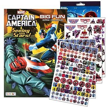 Amazon.com: Marvel Captain America Coloring Book with Captain ...