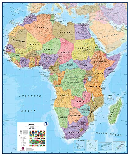 Map Of Africa Political.Maps International Large Political Africa Wall Map Laminated 39 X 47