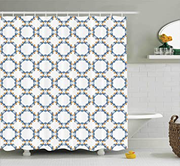 Traditional Shower Curtain By Ambesonne Bound Medieval Pattern In Renaissance Style Royal Old Fashioned Inspiration