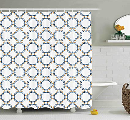 Ambesonne Traditional Shower Curtain Bound Medieval Pattern In Renaissance Style Royal Old Fashioned Inspiration