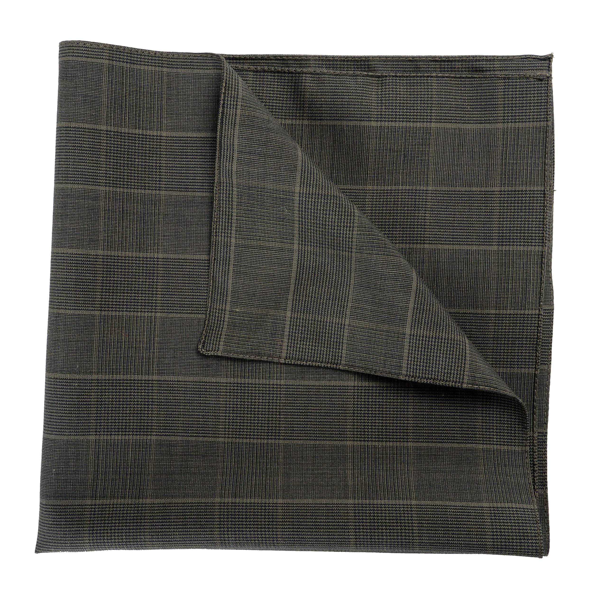 Versace Men's Wool Mohair Silk Green Pocket Square