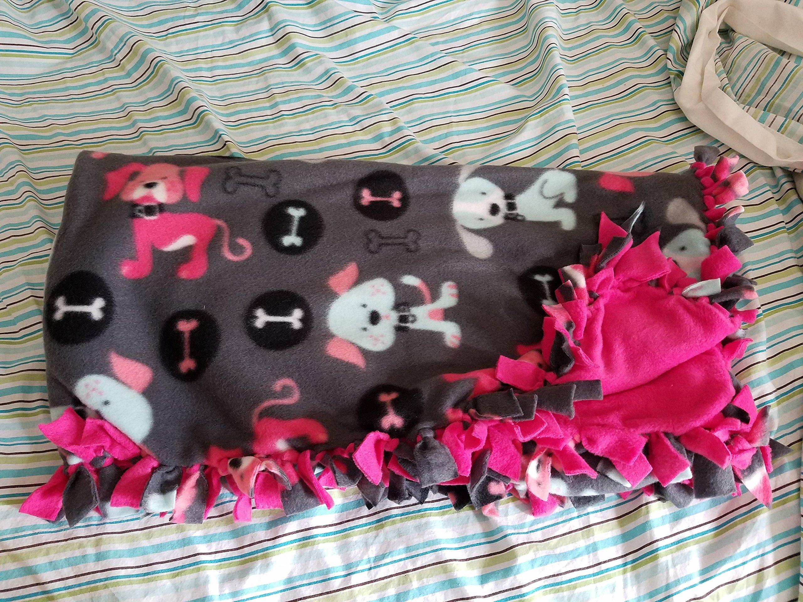 Medium Hand-Tied Fleece Pet Blanket (Punk Dogs)
