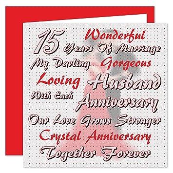 My Husband 15ème Anniversaire De Mariage Carte Sur Nos